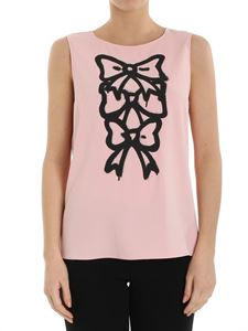Moschino Boutique - Pink top with bow print