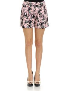 Moschino Boutique - Pink embossed shorts in floral pattern