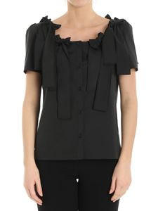 Moschino Boutique - Black cotton shirt with bows
