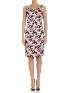 Moschino Boutique - Pink embossed dress with floral print