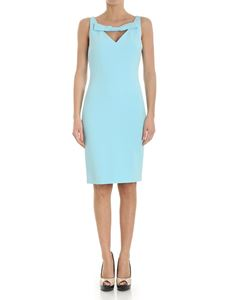 Moschino Boutique - Turquoise sheath dress with bow