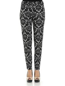 Moschino Boutique - Black and white jacquard trousers
