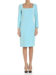 Moschino Boutique - Turquoise dress with square neckline