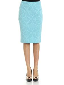 Moschino Boutique - Turquoise jacquard fabric skirt