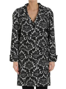 Moschino Boutique - Black and white jacquard coat