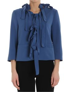 Moschino Boutique - Mid-blue jacket with bows