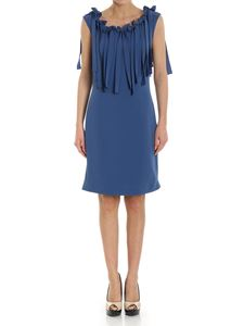 Moschino Boutique - Mid-blue dress with bows