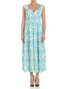 Moschino Boutique - Turquoise dress with floral embroidery