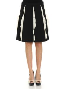 Red Valentino - Black trapeze skirt with ruffles