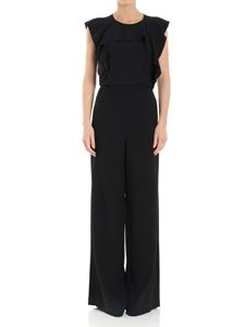 Red Valentino - Black jumpsuit with palazzo pants