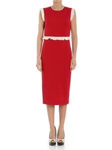 Red Valentino - Red longuette dress