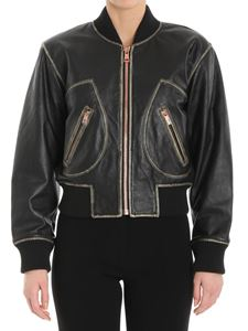 See by Chloé - Black vintage effect leather jacket
