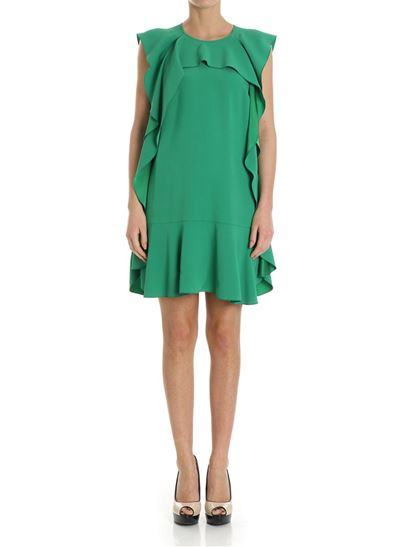 Red Valentino Green Flared Dress