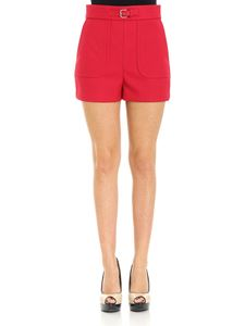 Red Valentino - Red shorts with waist strap