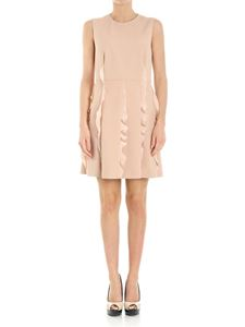Red Valentino - Pink dress with crepe ruffles details