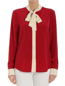 Red Valentino - Red shirt with ribbon