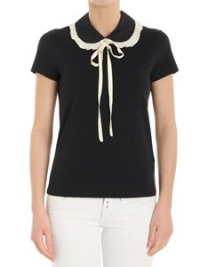 Red Valentino - Black t-shirt with bow