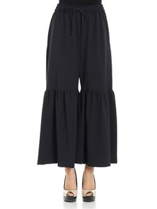 See by Chloé - Blue flared trousers