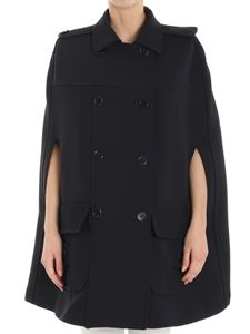 Red Valentino - Blue double-breasted cape