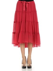 See by Chloé - Red flounces skirt