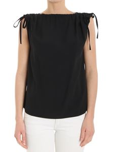 Red Valentino - Black top with drawstring