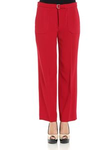 Red Valentino - Red crop trousers with strap