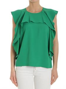 Red Valentino - Green top with ruffles