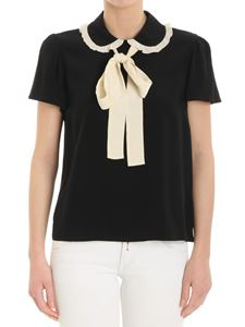 Red Valentino - Black top with bow