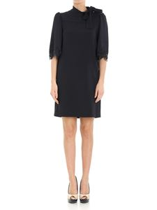 See by Chloé - Blue dress with lace insert