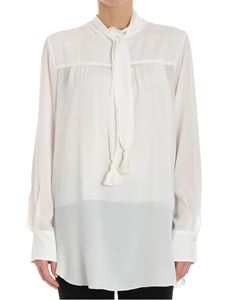 See by Chloé - White blouse with bow and tassels