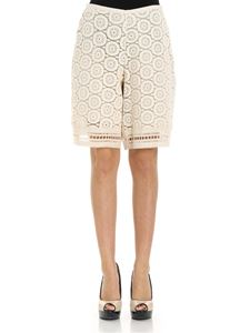 See by Chloé - Cream-colored lace bermuda