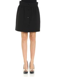 Red Valentino - Black flared skirt with buttons