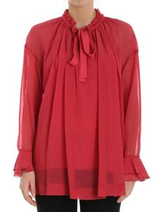 See by Chloé - Red blouse with drawstring