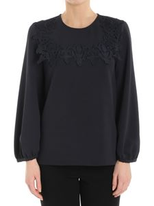 See by Chloé - Blue blouse with front embroidery