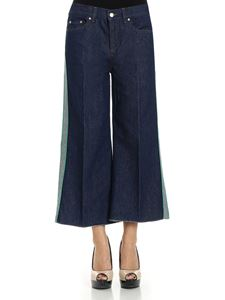 Red Valentino - Blue palazzo crop jeans