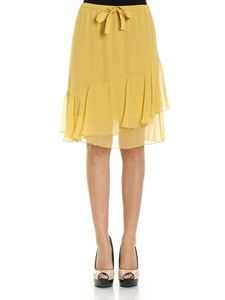 See by Chloé - Yellow skirt with ruffles