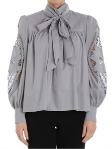 See by Chloé - Gray blouse with bow