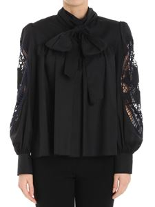 See by Chloé - Black blouse with bow
