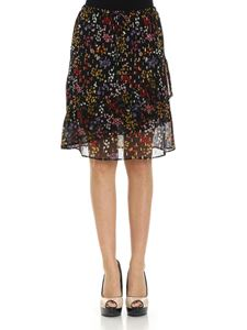See by Chloé - Black skirt with multicolor floral print
