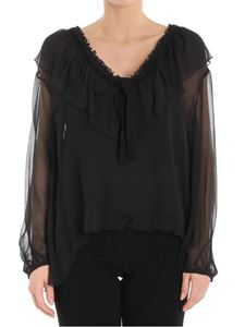 See by Chloé - Black georgette silk blouse