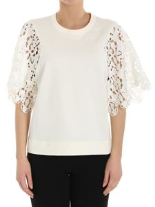 See by Chloé - Top with lace sleeves