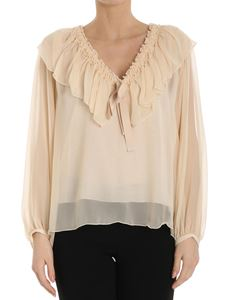 See by Chloé - Powder pink georgette silk blouse