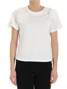 See by Chloé - White T-shirt with macramé inserts