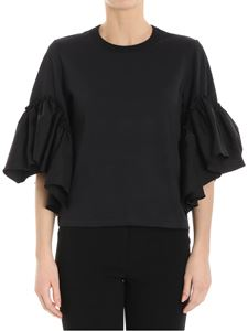 See by Chloé - Black top with ruffles on the sleeves