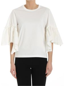 See by Chloé - White top with ruffles on the sleeves