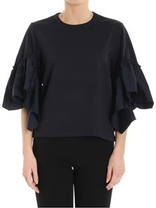 See by Chloé - Blue top with ruffles on the sleeves