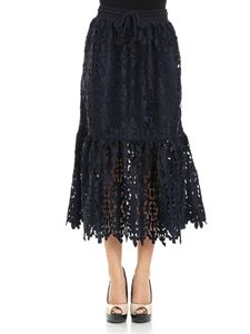 See by Chloé - Blue lace skirt