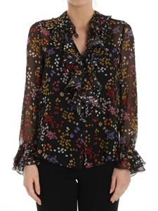 See by Chloé - Black shirt with multicolor floral print
