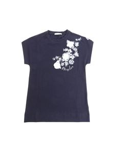 Moncler Jr - Blue floral printed T-shirt
