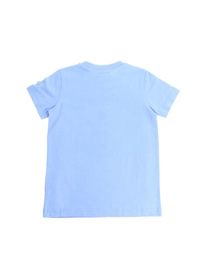 Moncler Jr - Light blue Anchor print T-shirt